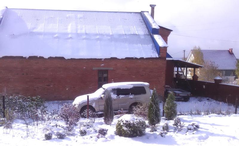 Выпал снег - октябрь 2015