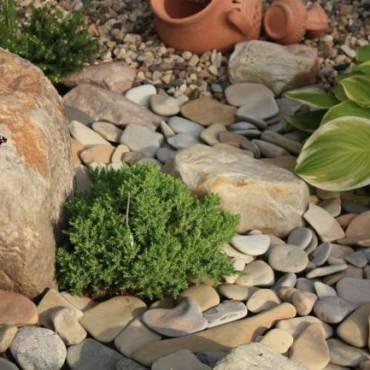 Рокарий своими руками. Что можно сделать из камней, собранных на участке. Часть 1.