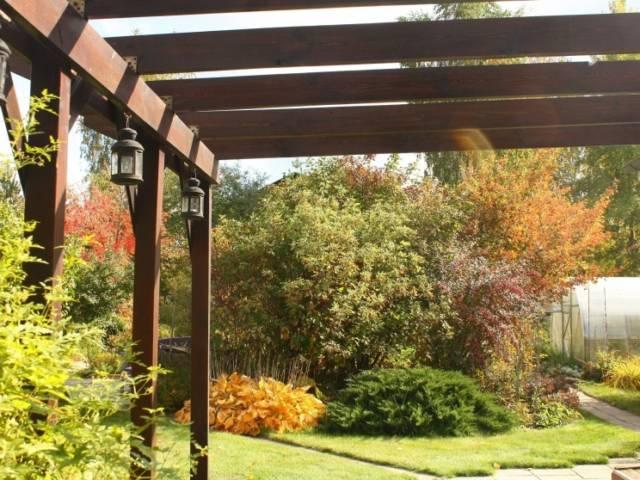 Вид с террасы дома